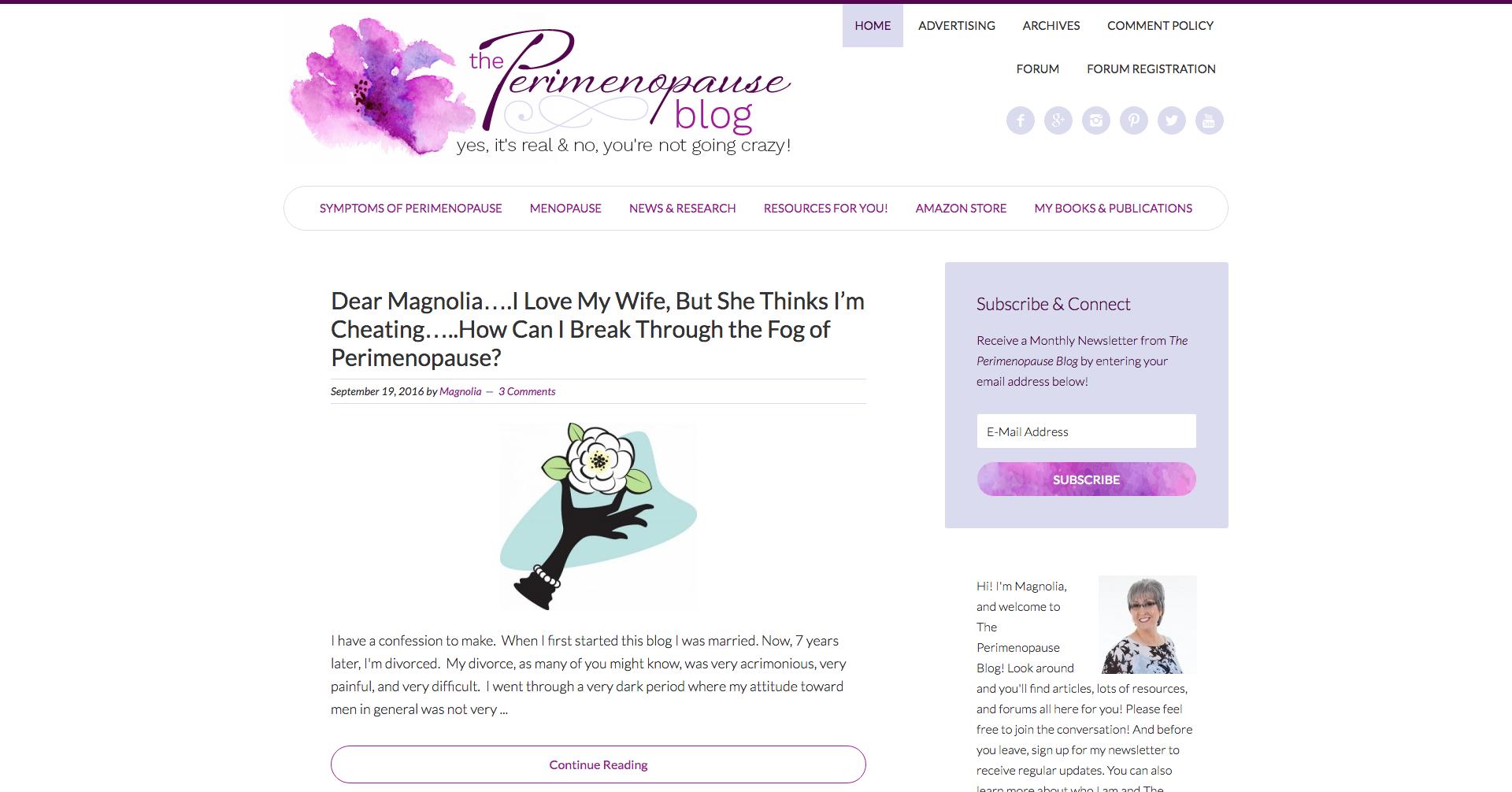 The Perimenopause Blog